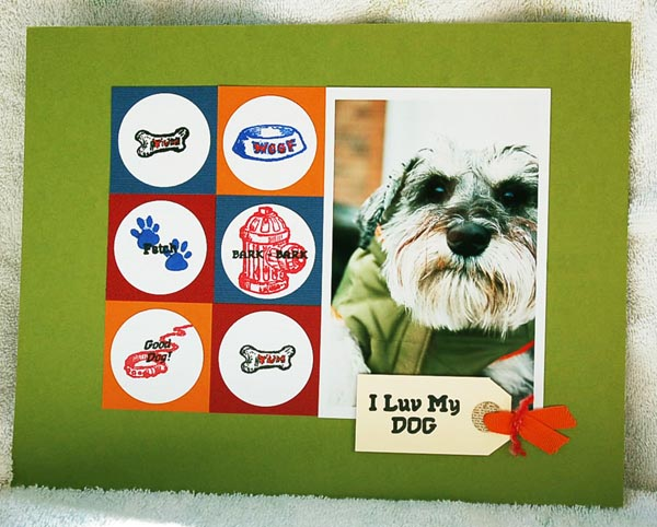 I love my dog made with PSstamps