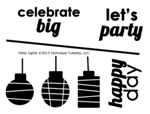 Technique-Tuesday-Party-Lights-Clear-Stamps-Medium