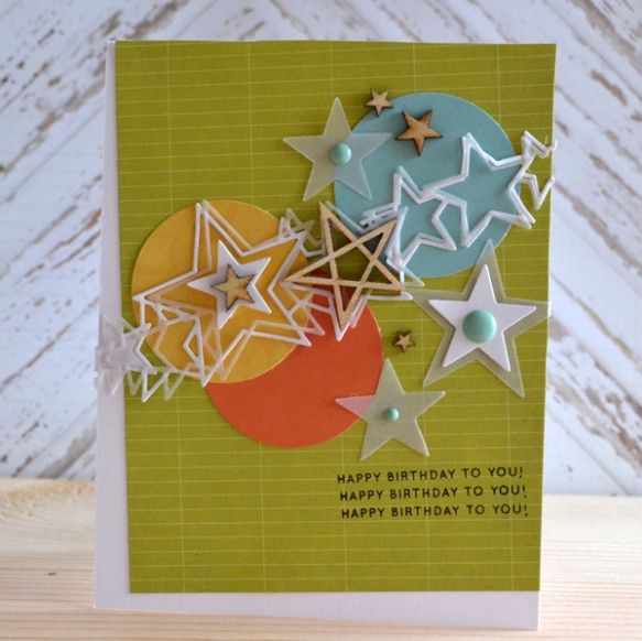 A card made with products frm Simon Says Stamp