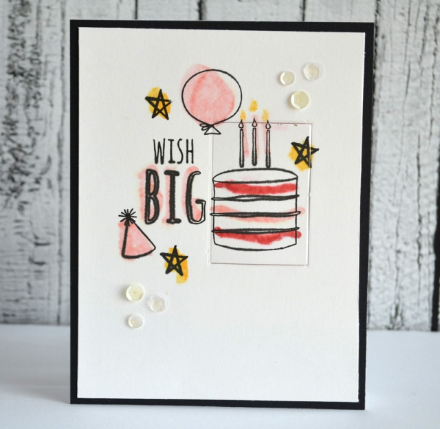 Wish Big card by Teri