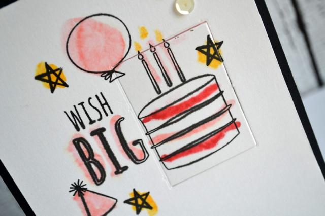 Wish Big card by Teri