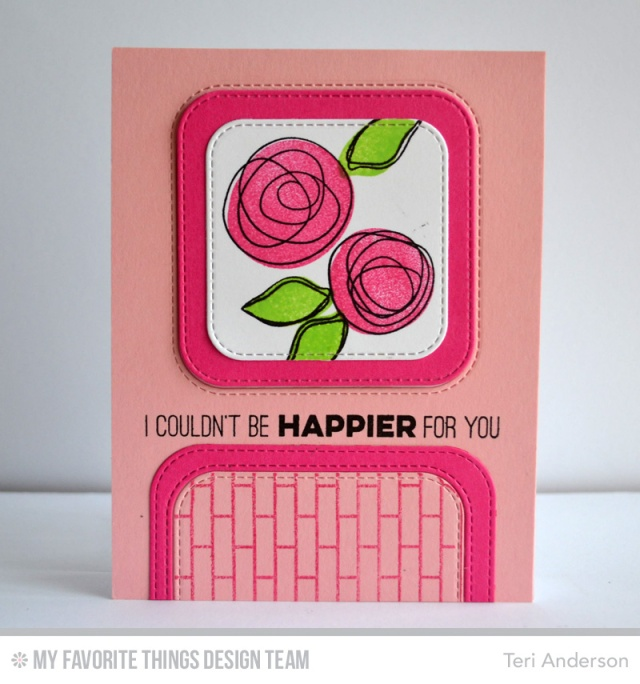 Happier Flowers card by Teri
