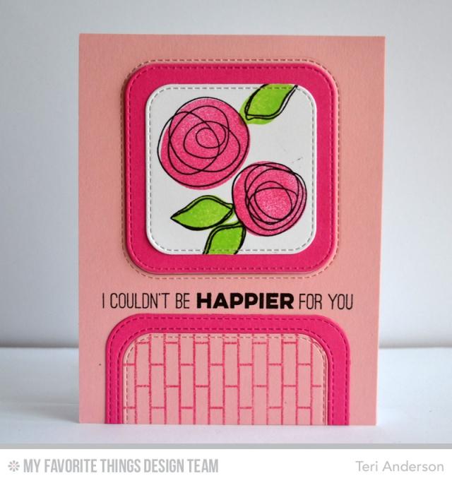 Happier Flowers card by Teri