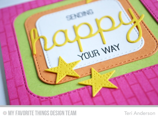 Happy Squares card by Teri
