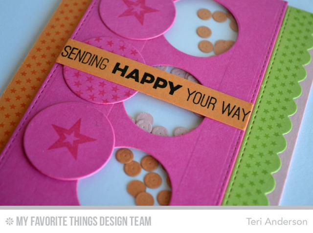 Happy Shaker card by Teri