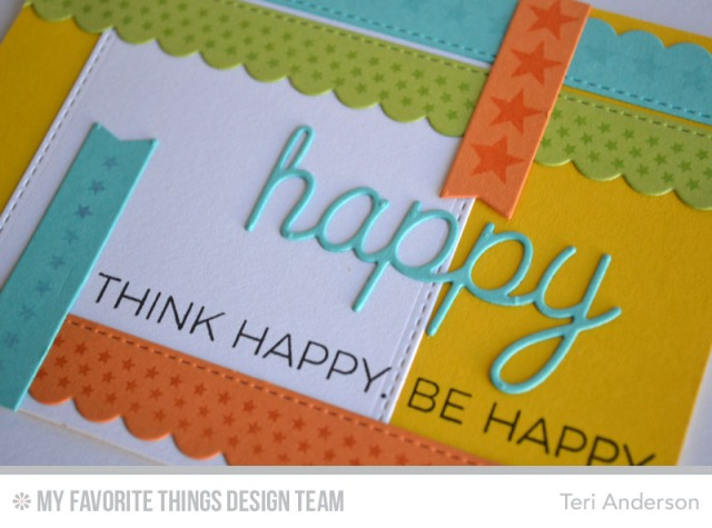 Think Happy card by Teri