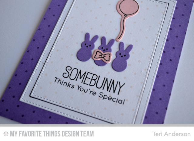 Purple Peeps card