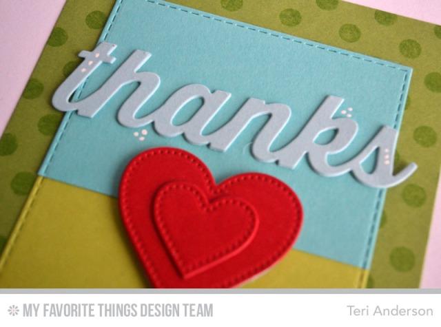 Thanks Heart card