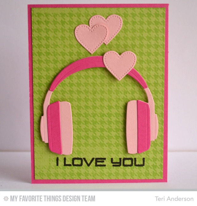 I Love You Headphones card