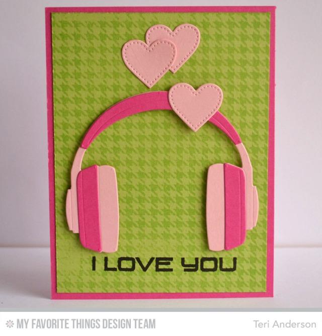 I Love You Headphones card