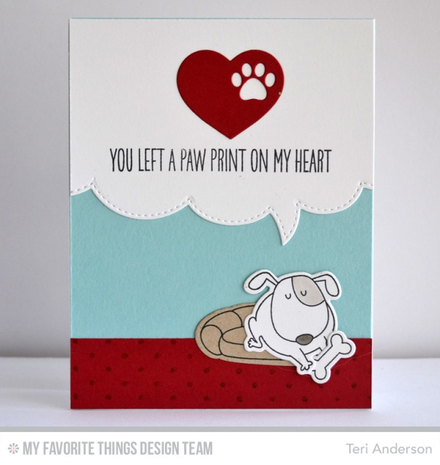 Paw Print card by Teri