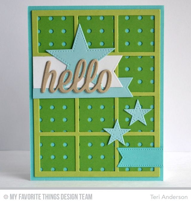 Hello Star Grid card by Teri