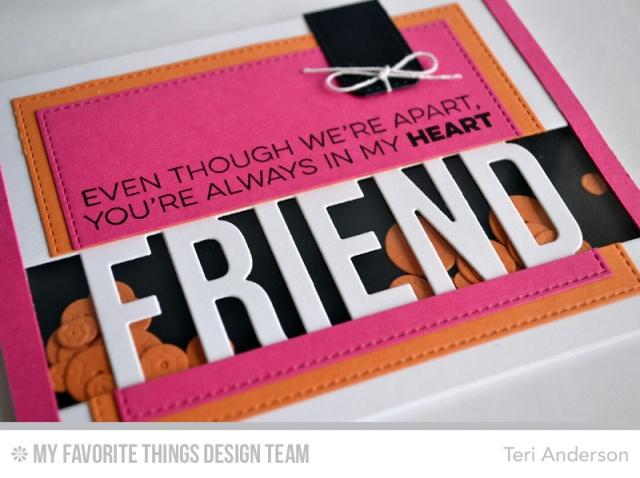 Friend Shaker Card by Teri