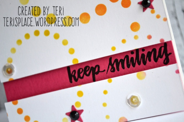 Keep Smiling card by Teri