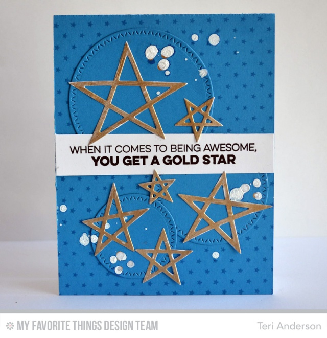 Gold Star card by Teri