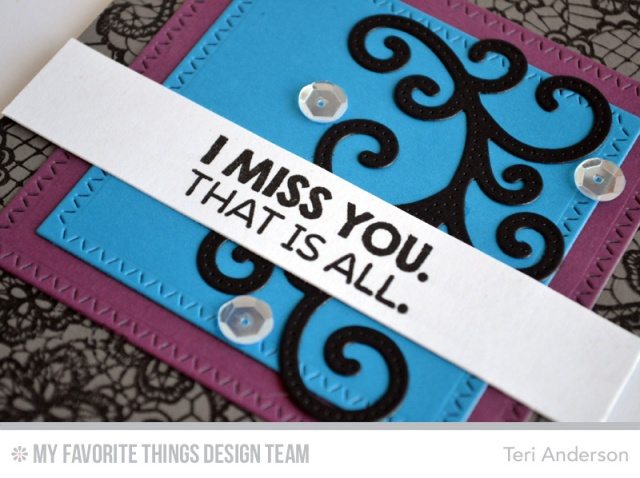 Miss You Lace card by Teri