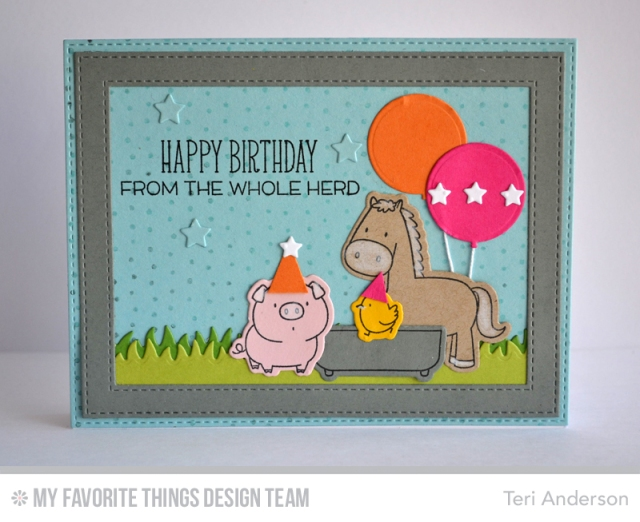 Birthday Herd by Teri