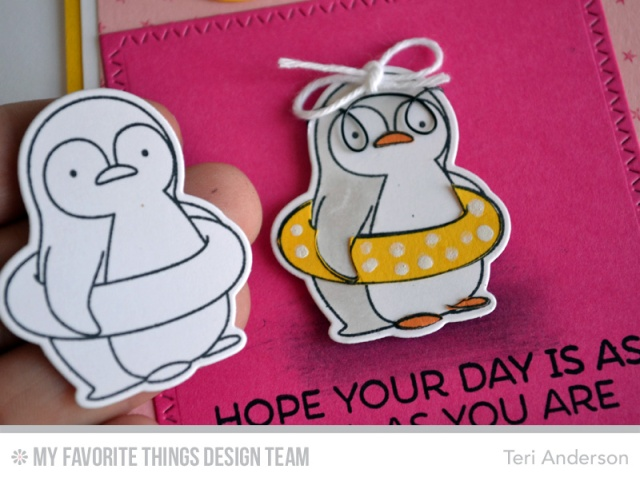Cool Penguin card by Teri