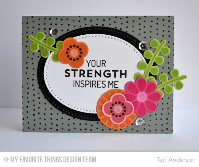 Strength Flowers card by Teri