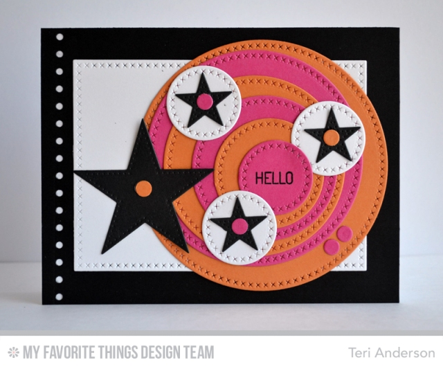 Hello Circles card by Teri