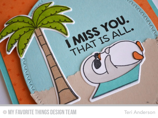 Miss You Penguin card by Teri