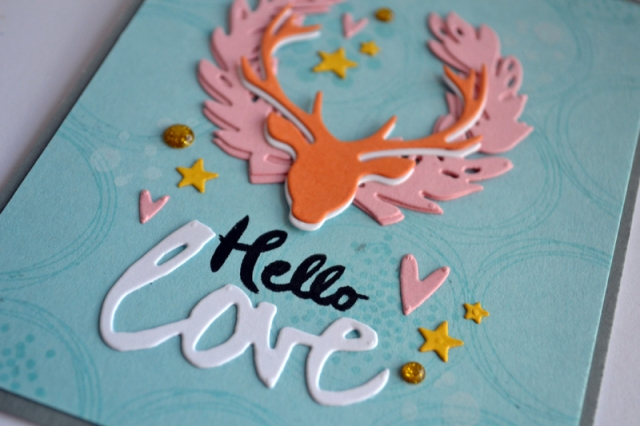 Hello Love Deer card by Teri