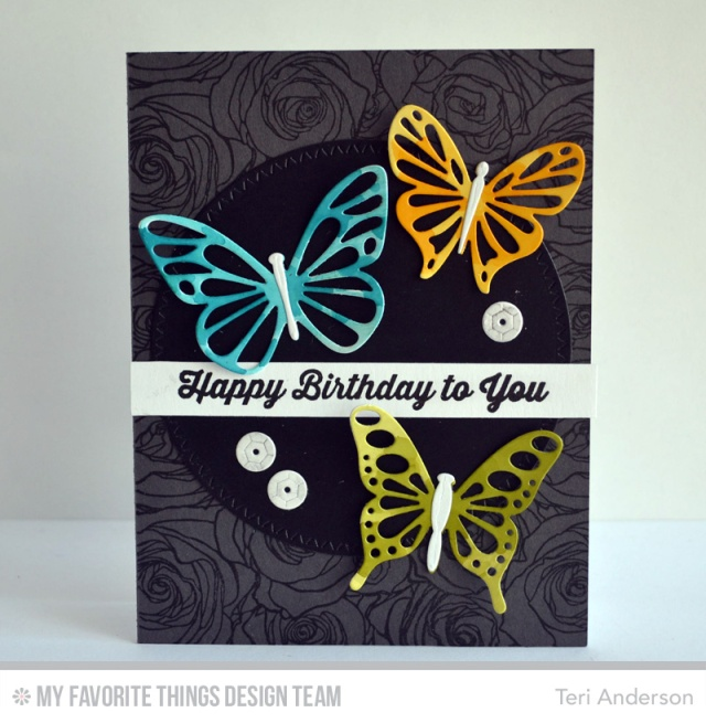 Butterfly Trio card by Teri