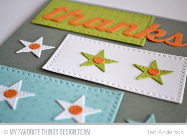 Thanks Stars Strips card by Teri