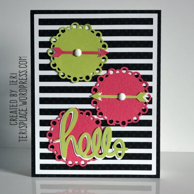 Hello Doilies card by Teri