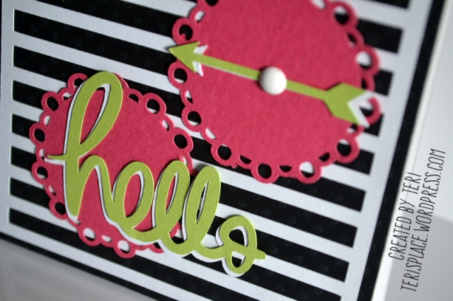 Hello Doilies card by Teri