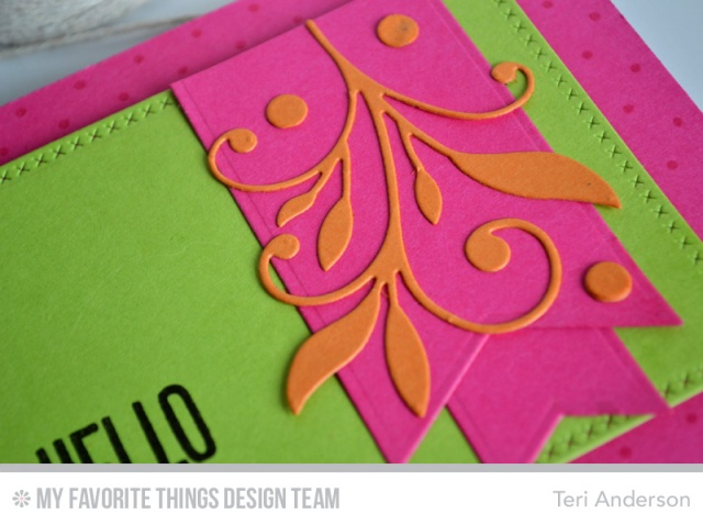 Hello Bold card by Teri