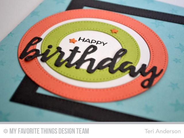 Happy Birthday Circles by Teri