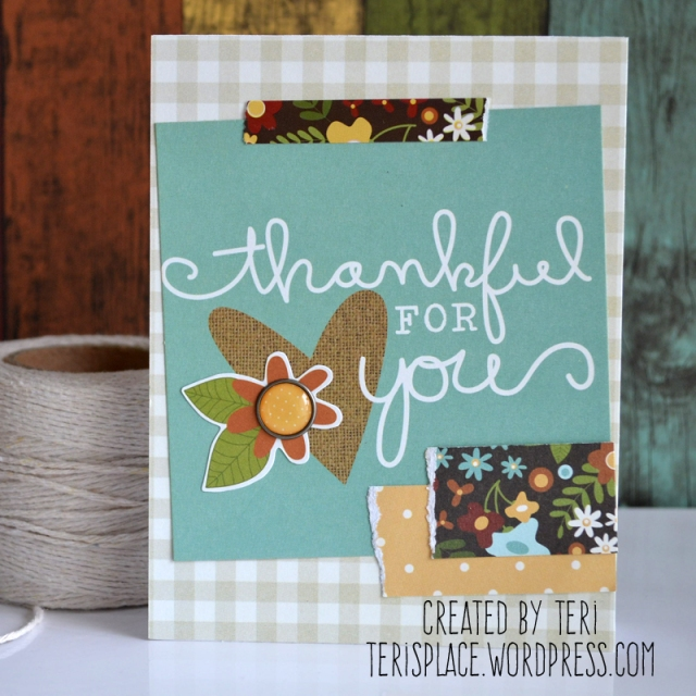 Thankful for You card by Teri