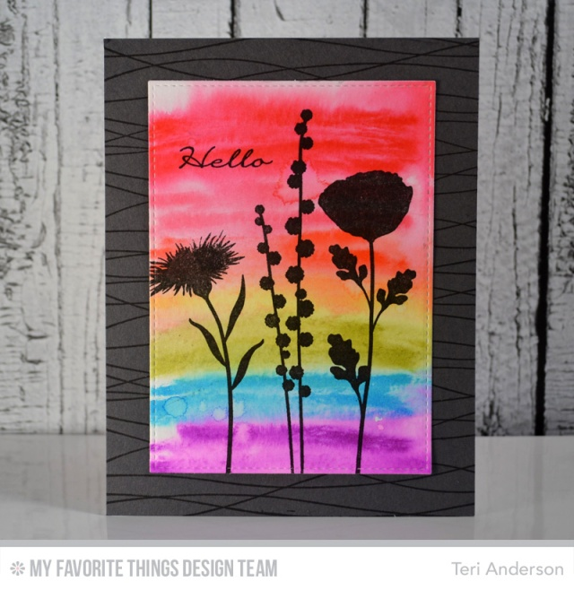 Rainbow Flowers Hello by Teri