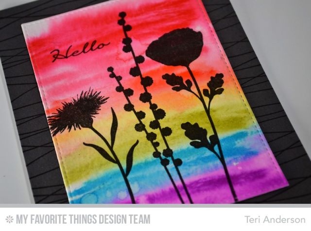 Hello Rainbow Flowers by Teri