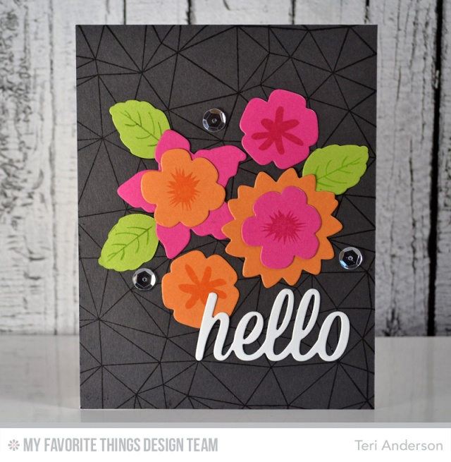Hello Blooms card by Teri