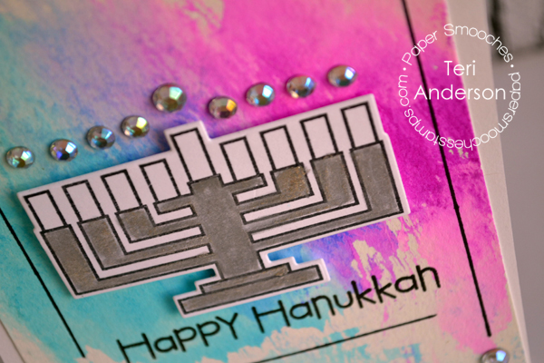 Happy Hanukkah card by Teri