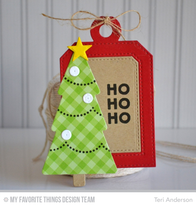Ho Ho Ho Tree tag by Teri