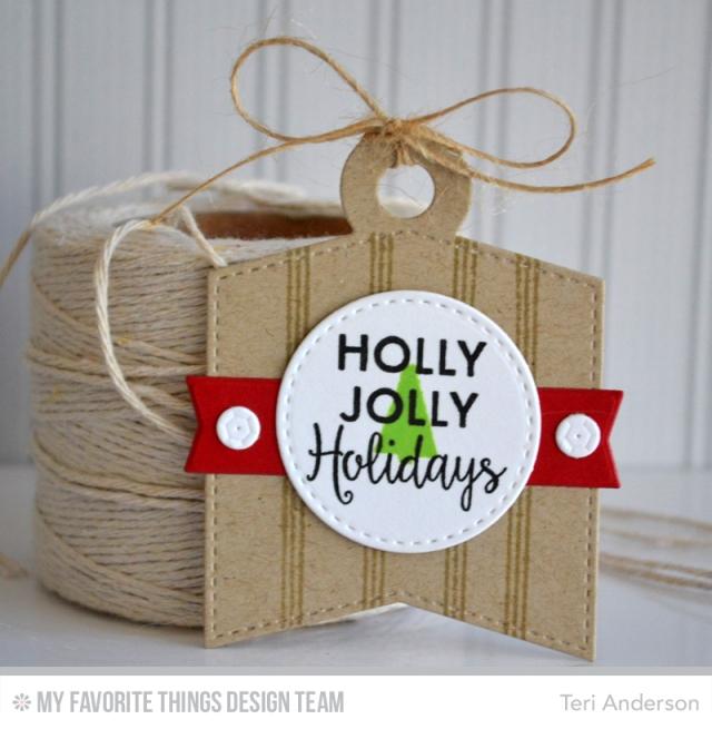 Holly Jolly tag by Teri