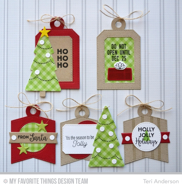 Christmas tags by Teri
