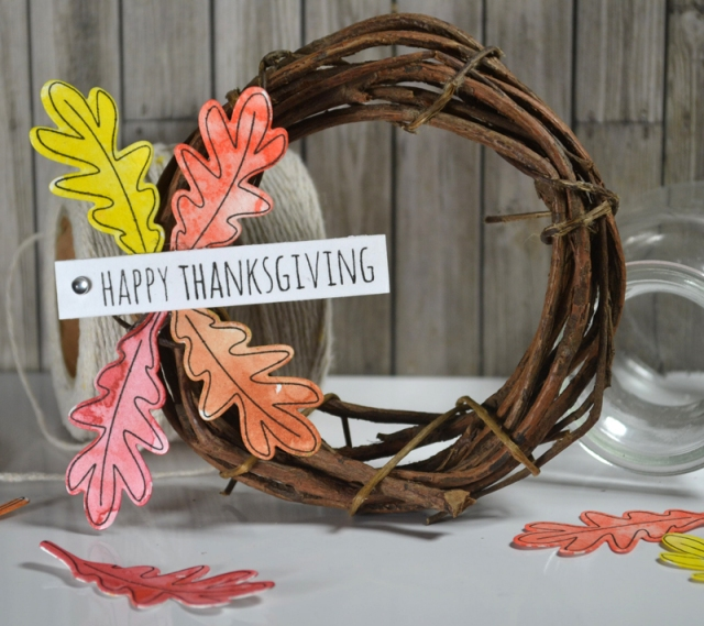Happy Thanksgiving Wreath by Teri