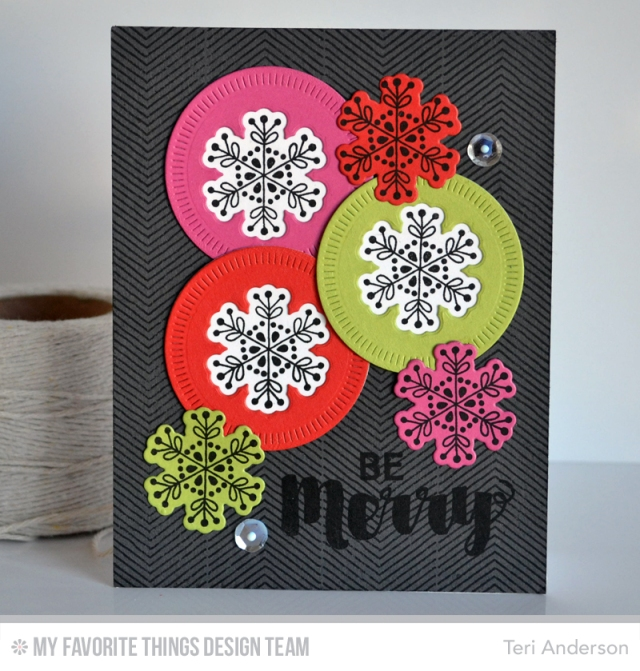 Be Merry Snowflakes by Teri