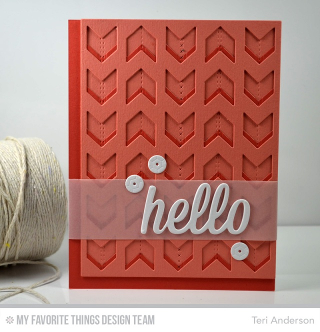 Hello Chevron by Teri