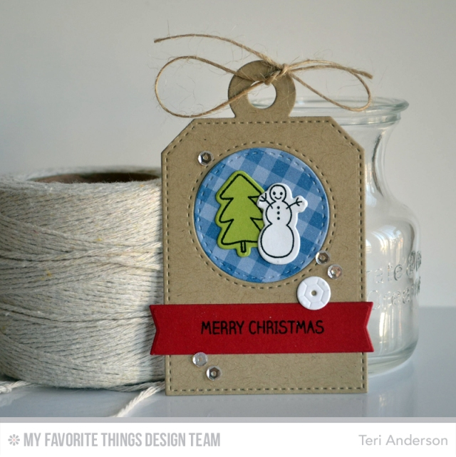 Merry Christmas Snowman Tag by Teri