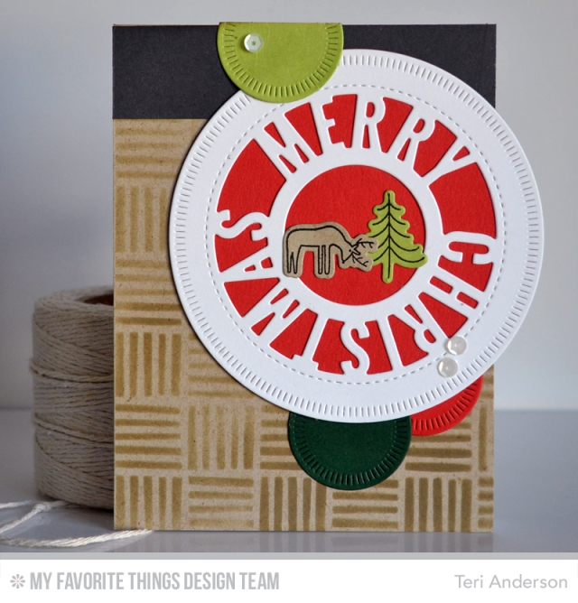 Merry Christmas Circles by Teri