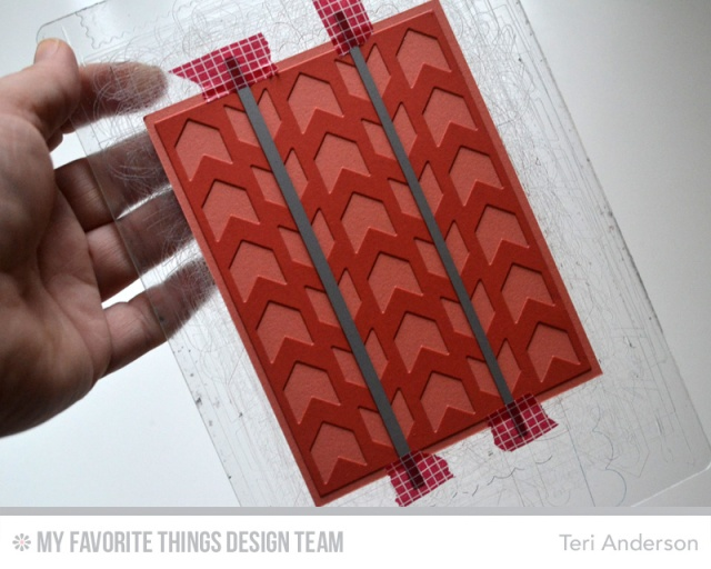 Chevron card step 1 by Teri