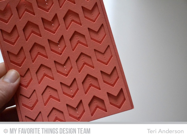 Chunky Chevron card step 2 by Teri