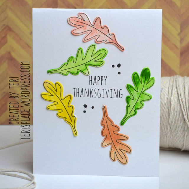 Happy Thanksgiving card by Teri