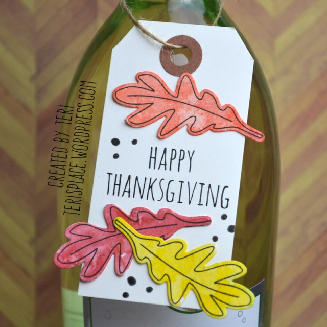 Thanksgiving Wine Bottle Tag by Teri