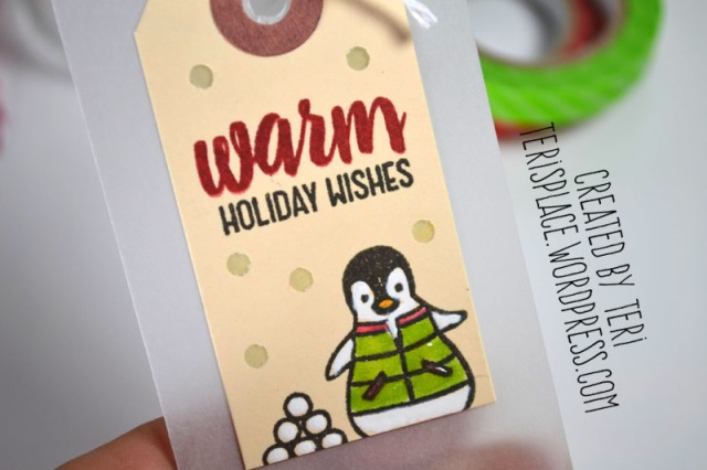 Warm Holiday Wishes tag by Teri
